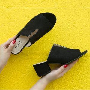 Shoes - 🆕 Black Cutout Mule Sandals